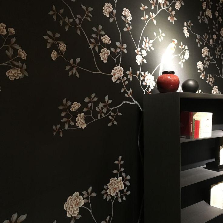 Misha wallpaper partecipa con Moonlight Blooming Peonies, PN2, della collezione China Classic, al Fuorisalone 2016, da Paola Lenti ai Chiostri dell'Umanitaria, Via Francesco Daverio 7.
