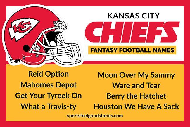 Kansas City Chiefs Fantasy Football Team Names Sports Feel Good Football Team Names Fantasy Football Names Fantasy Team Names
