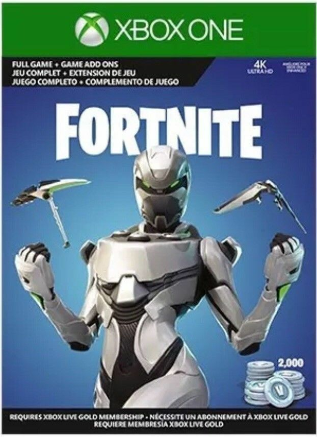 fortnite xbox one eon skin cosmetic set skin 2000 v bucks physical card - how to get fortnite on xbox 360 without xbox live