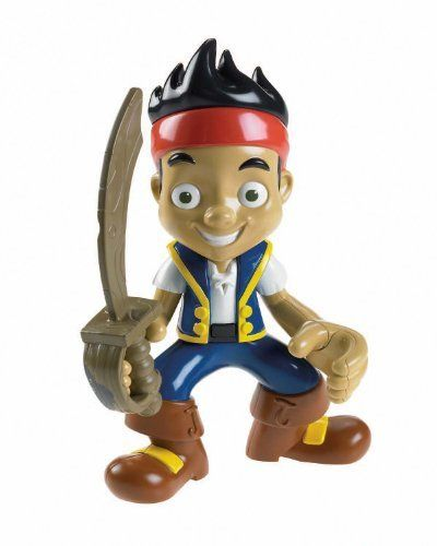 """Fisher-Price Disney's Jake and The Never Land Pirates Talking Figure - Yo Ho Let's Go by Fisher-Price. $18.52. From the Manufacturer                """"Let's say the pirate password. Yo-ho-ho."""" Take Jake along on your next pirate adventure as he comes to life in this fun, fully poseable JAKE TALKING FIGURE. Press his belt to hear over twenty pirate sounds and phrases. Comes with a removable Jake's sword from the show. Includes 3 """"AG13"""" (LR44) batteries.     ..."""