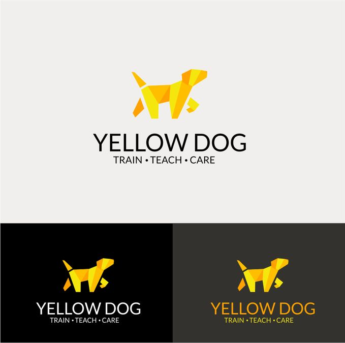 Create a modern, crisp, bright, and fun logo for Yellow Dog (Training and Pet Services) by sakizr