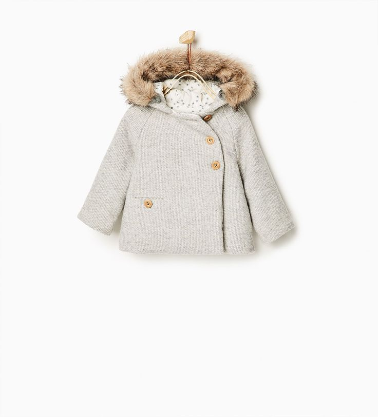 Double breasted 3/4 length coat-COATS-Baby girl-Baby | 3 months - 3 years-KIDS | ZARA United States