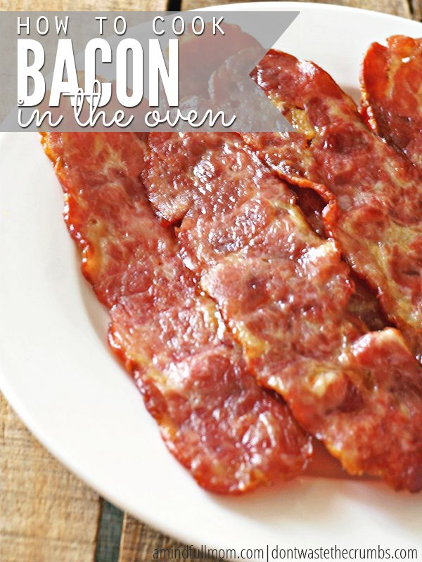 how to cook bacon in the oven without mess