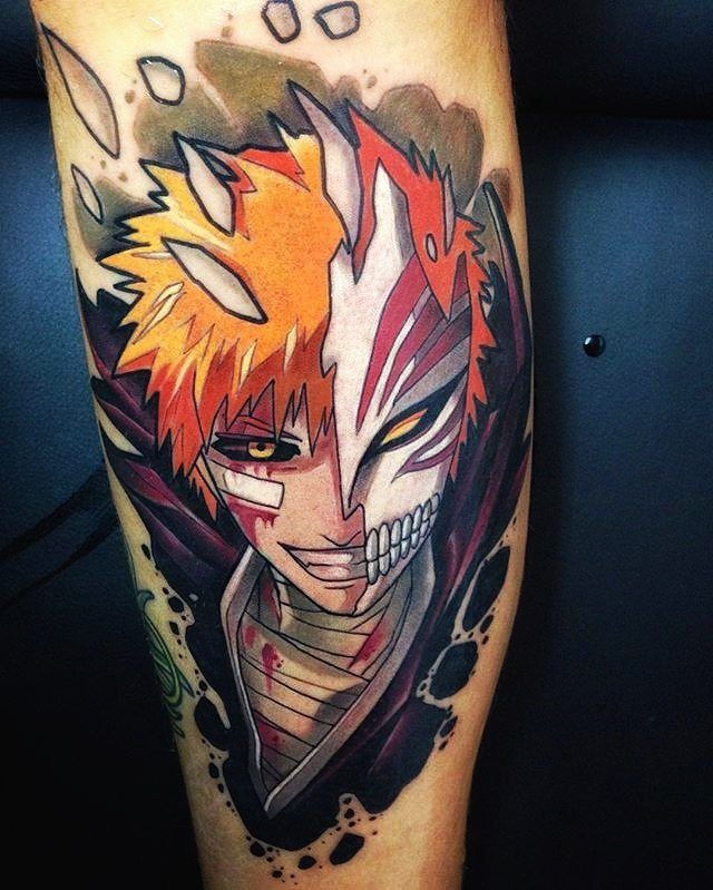 "1,037 Likes, 5 Comments - #1 PAGE ABOUT GAMING TATTOOS! (@gamer.ink) on Instagram: ""Ichigo from Bleach done by @oash_tattoo To submit your work use the tag #gamerink And don't forget…"""