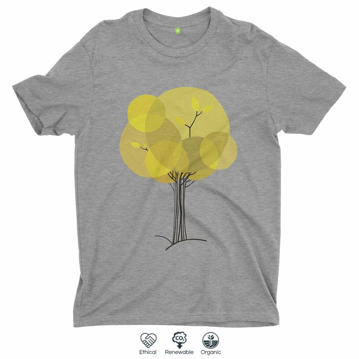 Autumn Tree. #organic #organiccotton #ecofashion #minimal #tshirt #tshirtdesign #tree #autumn #fall #sustainablefashion #ethicalfashion #menswear #womensfashion #yellow