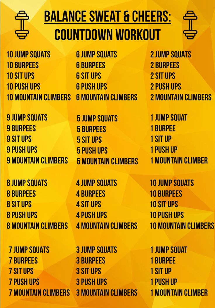 Its the countdown workout countdown workout advanced