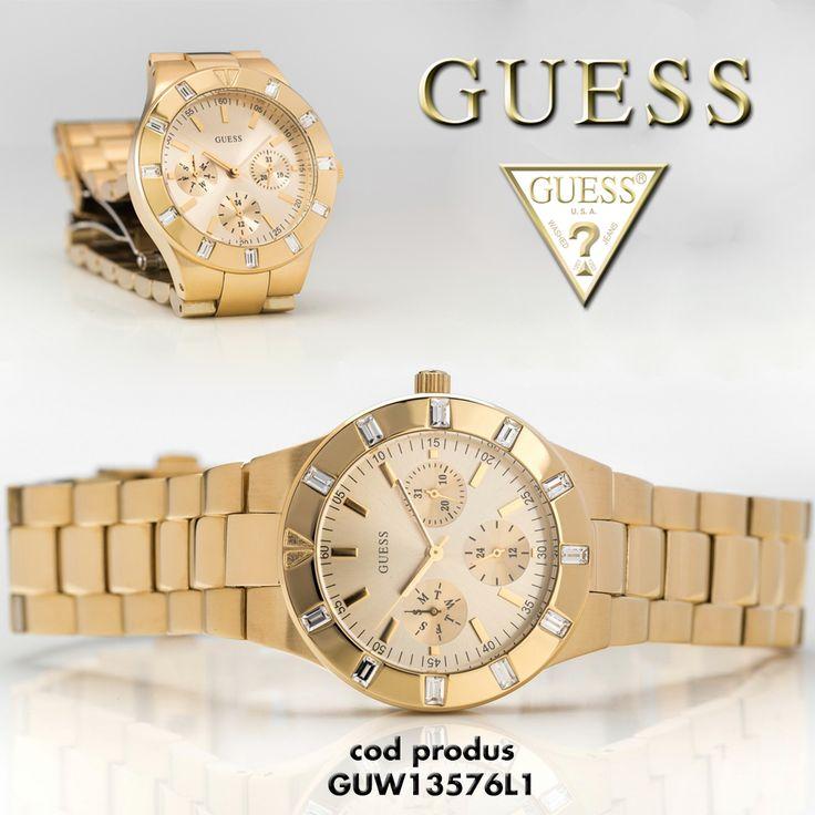 Avem placerea sa va prezentam modelul Guess - GUW13576L1, un ceas care se evidentiaza prin lux, eleganta si denta putere. Va sta perfect la mana oricarei femei.  Pentru detalii complete despre produs, intrati pe linkul: http://ceasmania.ro/ceasuri-guess/1011-guess-guw13576l1.html