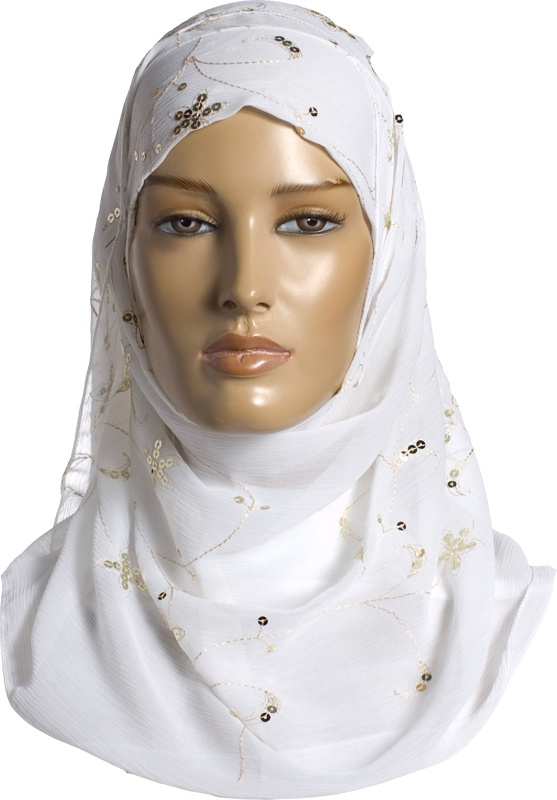 Igal Hijab - White - Embroidery http://www.muslimbase.com/clothing/hijabs/igal-hijab/igal-hijab-white-embroidery-p-6399.html
