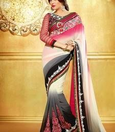 Buy Multicolor EMBROIDERY WORK GEORGETTE FABRIC BOLLYWOOD SAREE WITH BLOUSE PIECE other-actress-saree online