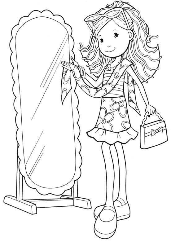 online girls coloring pages - photo#12