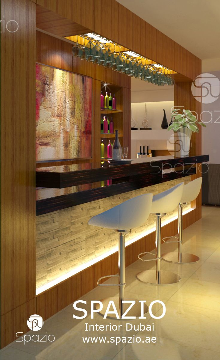 The Interior Design For Bar Spaces In A Luxury Residential House. Get  Inspiration And More