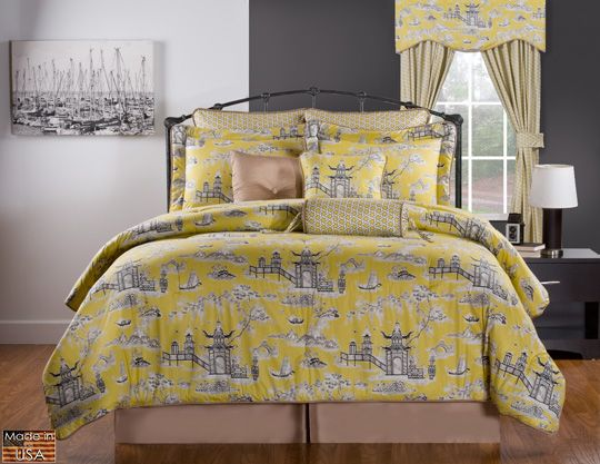 Black And Yellow Comforter Queen: 45 Best ChAdWiCk CoTtAgE Images On Pinterest