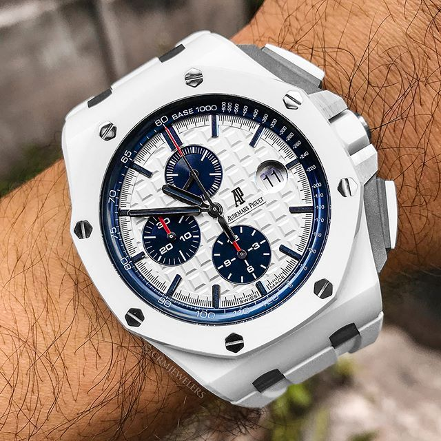 Ap Royal Oak Offshore White Ceramic Beast With Blue Sub Dials