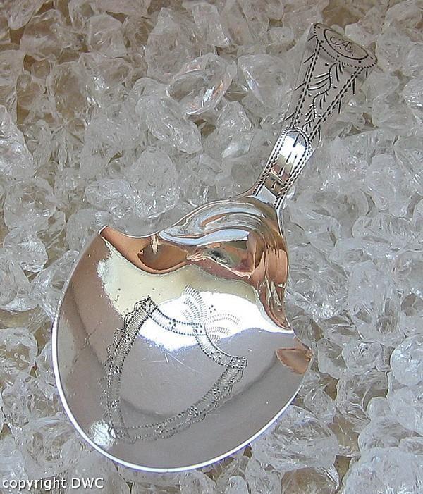 Silberlöffel Tea Caddy Spoon England Birmingham1802 Antik Messlöffel Silber