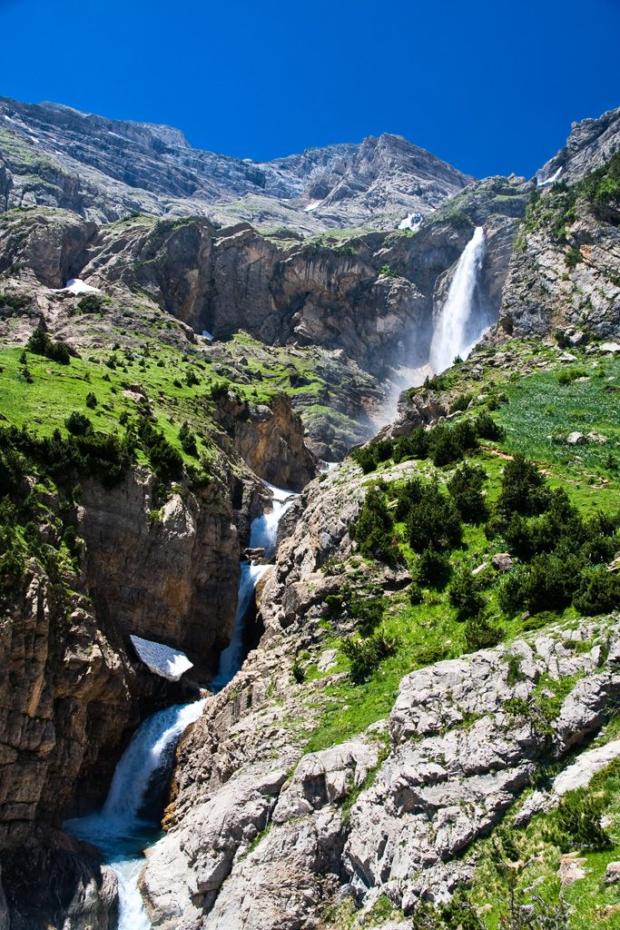 Cinca Waterfall in Parque Nacional de Ordesa at Monte Perdido - Aragon-Huesca, Spain