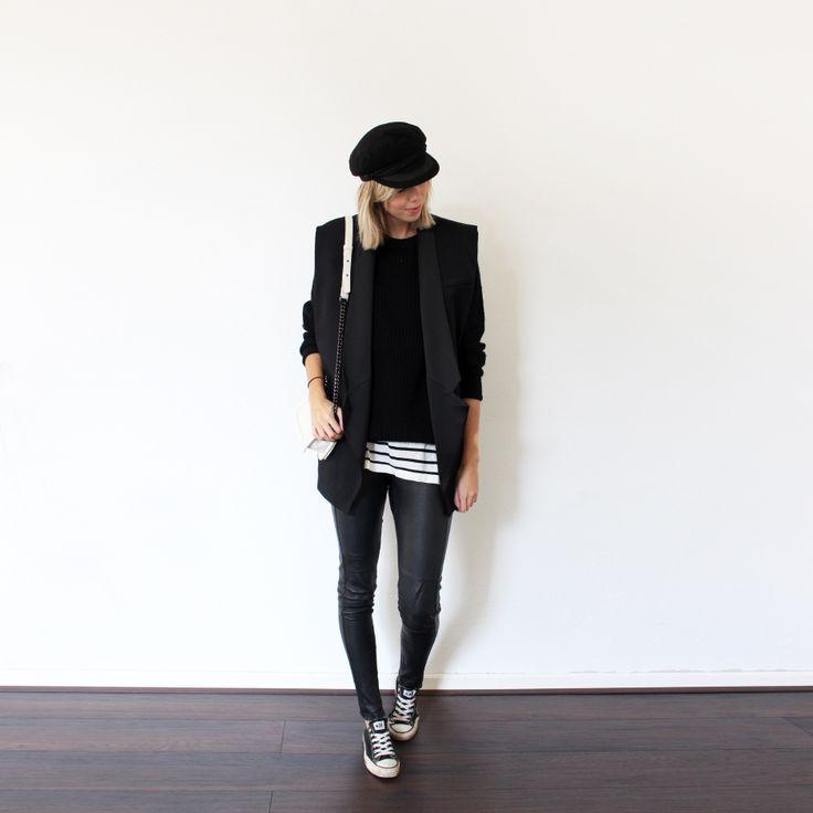 Connected to Fashion / Balmain x H&M, Black & White, Sailor cap