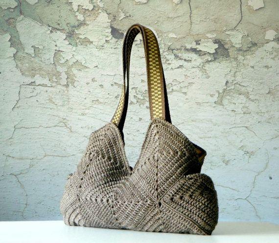 Purse Handmade crochet BagNew Four Season Crochet bag by NzLbags, $70.00