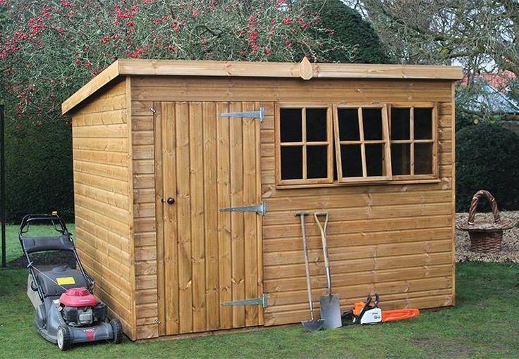 Comment Construire Son Abri De Jardin Pour Ranger Les Outils Et La Tondeuse Cobertizos De Madera Casas Pequenas Casetas De Jardin