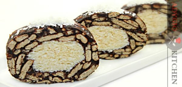 Salam de biscuiti Raffaello reteta video