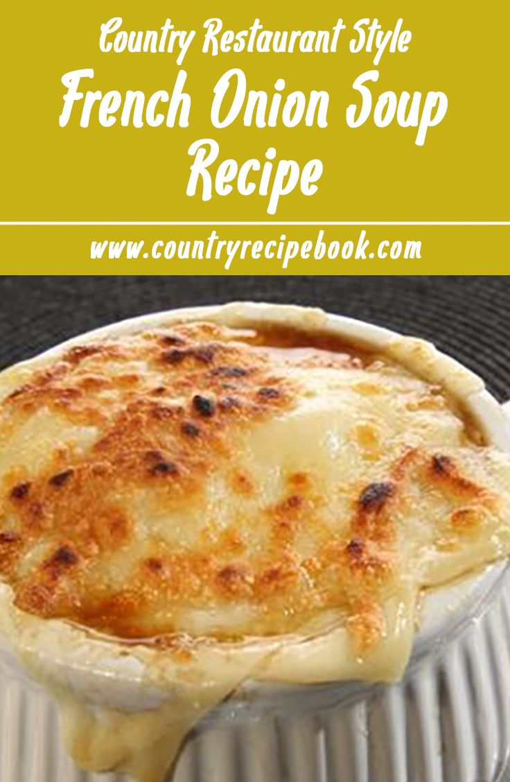 Learn how to make the most delicious, restaurant style French Onion Soup with this easy recipe. Complete with the bubbly, gooey, golden brown melted cheese on top.