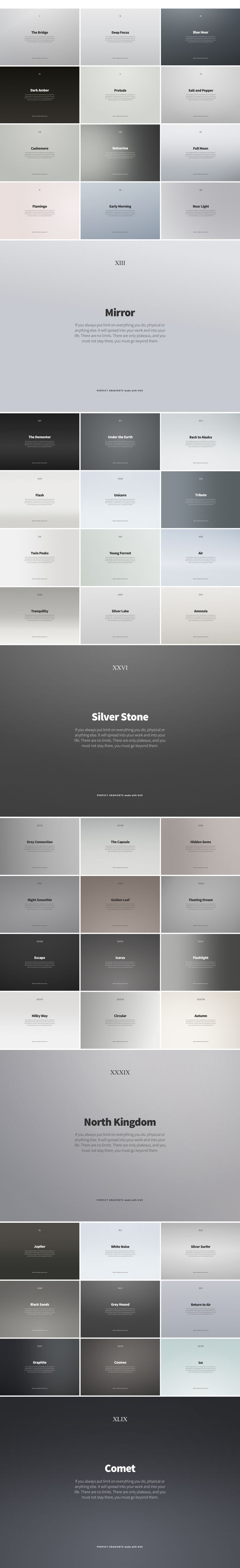 Hue: Free Promo Backdrops and Gradients on Behance