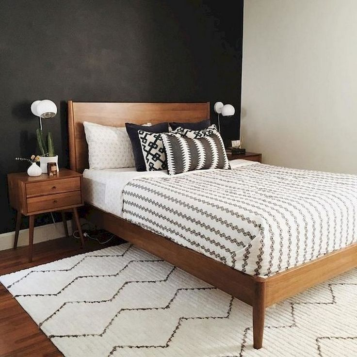31+ Amazing Bright Trendy Mid Century Modern Bedroom Decor Ideas