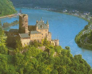 Castle on the Rhine River. What. a fun River trip