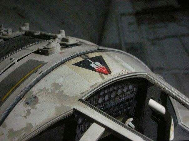 Star Wars - Millennium Falcon Plastic Kit Bandai 84e71cc954ba24e9ebeddcb8387a8923--cockpit-sticker