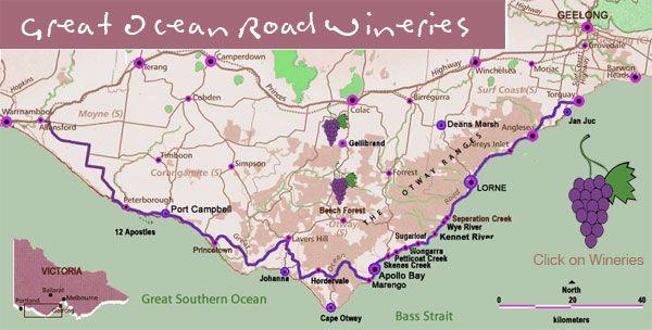 Great Ocean Road and Otways Wineries