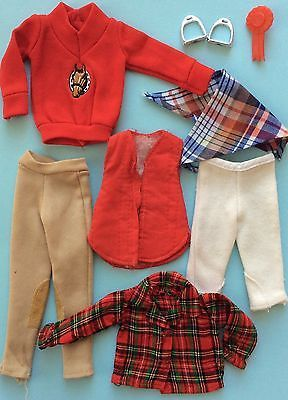SINDY HORSE RIDING CLOTHES BUNDLE 1980's PEDIGREE  £6.50. Bundle of Sindy clothing, from 1982-84.  Generally all good, hope these can help complete some sets!
