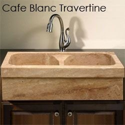 Allstone KA33DB Natural Stone Farm Sink Installed