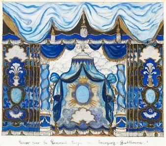 Le Bourgeois Gentilhomme; décor pour la cérémonie turque By Alexandre Nikolaïevitch Benois ,1932