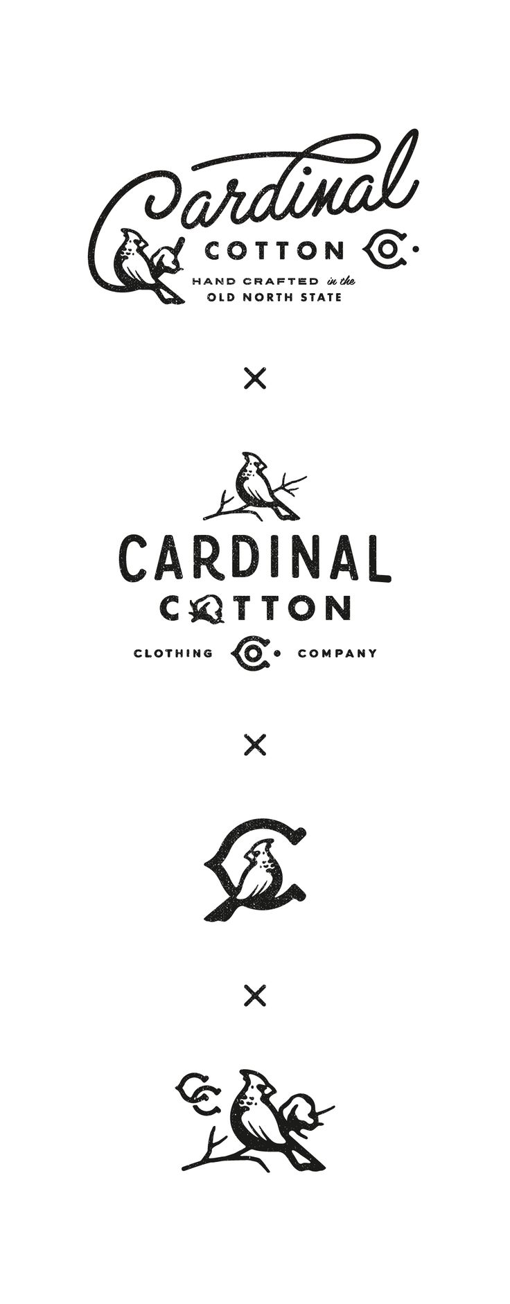Cardinal Cotton logo variations