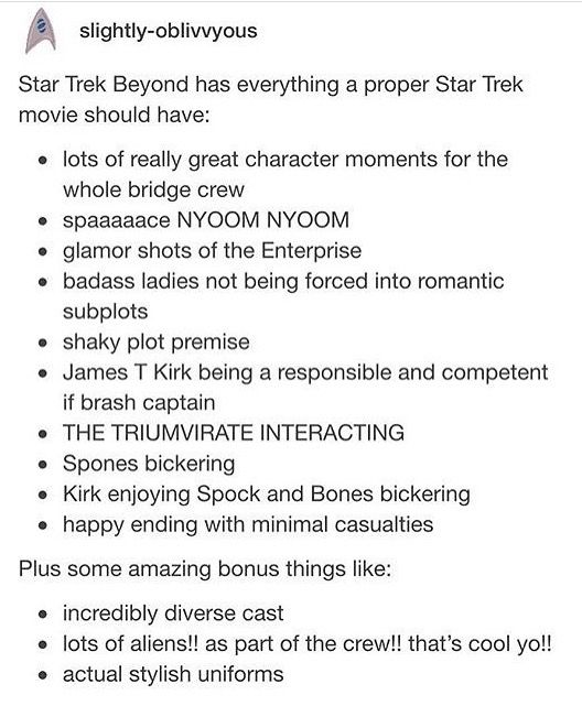 Star Trek beyond is actually the only reboot movie that I like.