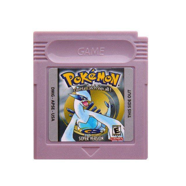 Nintendo Game Boy Color Pokemon Video Game Cartridge Yellow-Green-Red-Blue-Silver-Crystal Version