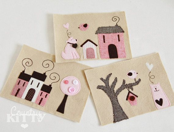 Fabric pictures set- pink, brown and beige shades - frame NOT included (cornice NON inclusa)
