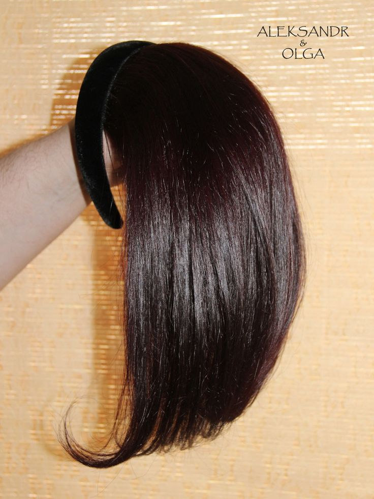 Волосы на ободке натуральные