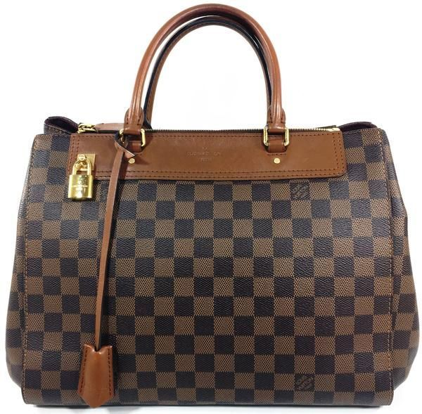 75b8abf9dc57 Louis Vuitton Brown Coated Canvas