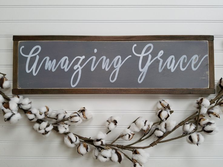 Amazing Grace Sign - Amazing Grace Wall Art - Amazing Grace Wood Sign - Farmhouse Style - Wood Sign - Wooden Sign - Rustic Sign - Farmhouse by packratshandmade on Etsy