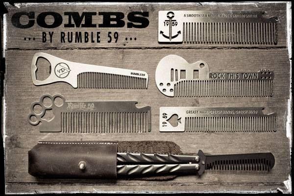 Hauptsache die Haare liegen! Zu diesem Zweck versorgt Rumble59 euch mit einer großen Auswahl an Kämmen. Da ist für jeden das Passende dabei! #Pomade #Greaser - auf Rockabilly-Rules.com