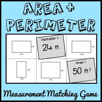 This Area and Perimeter Matching Game will have students applying the formulas for area and perimeter of rectangles in a fun and engaging way! This game includes TEN unique matching games with a set of 6 different rectangles for each game.