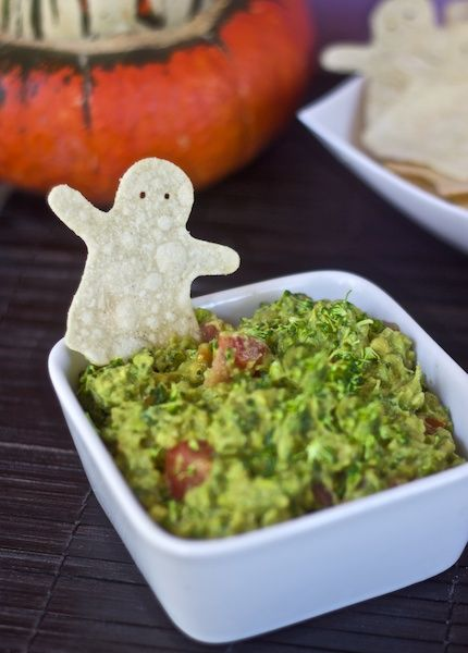 Ghastly Tortilla Chips & Ghoul-camole. LOVE her vegan recipes