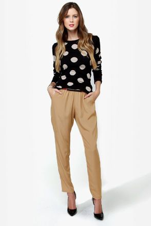 High-Waisted Hopes Beige Pants - $29 : Fashion Clothing On Sale at LuLus.com