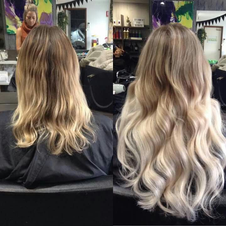 Refresh blonde and tape extensions created at Whiteivy studio