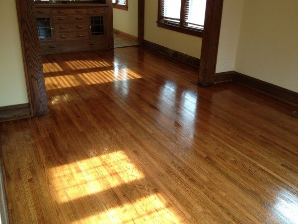 This is a Early American Stain on a red oak hardwood floor in Golden Valley  http - 21 Best Images About Hardwood Floors Refinished On Pinterest