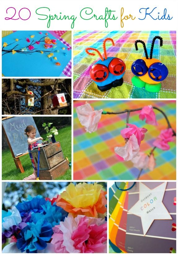 20 crafts that au pairs and host kids can do together this spring. For more craft ideas, visit: aupairbuzz.culturalcare.com