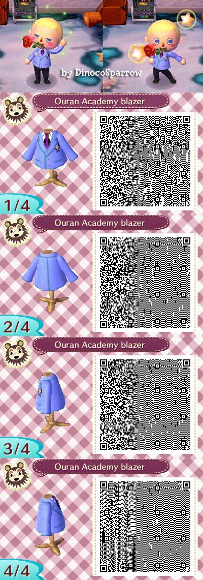 I made my first QR code design! If you want to look as fabulous as the Host Club, this is for you. ;D  Ouran High School Host Club, Animal Crossing New Leaf, Tamaki