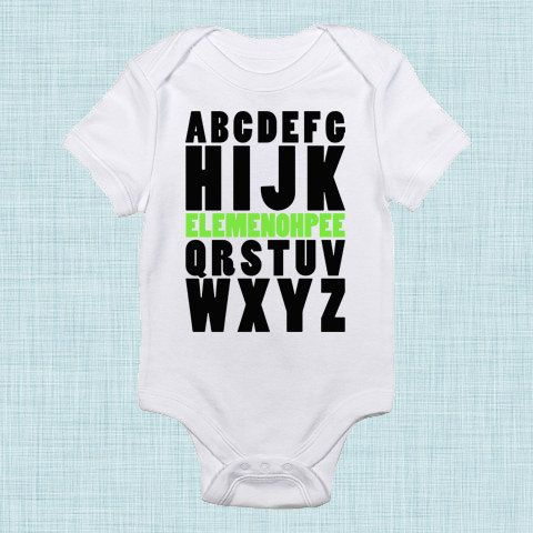 Abc baby alphabet baby shower funny baby gifts for new parents baby clothes with sayings