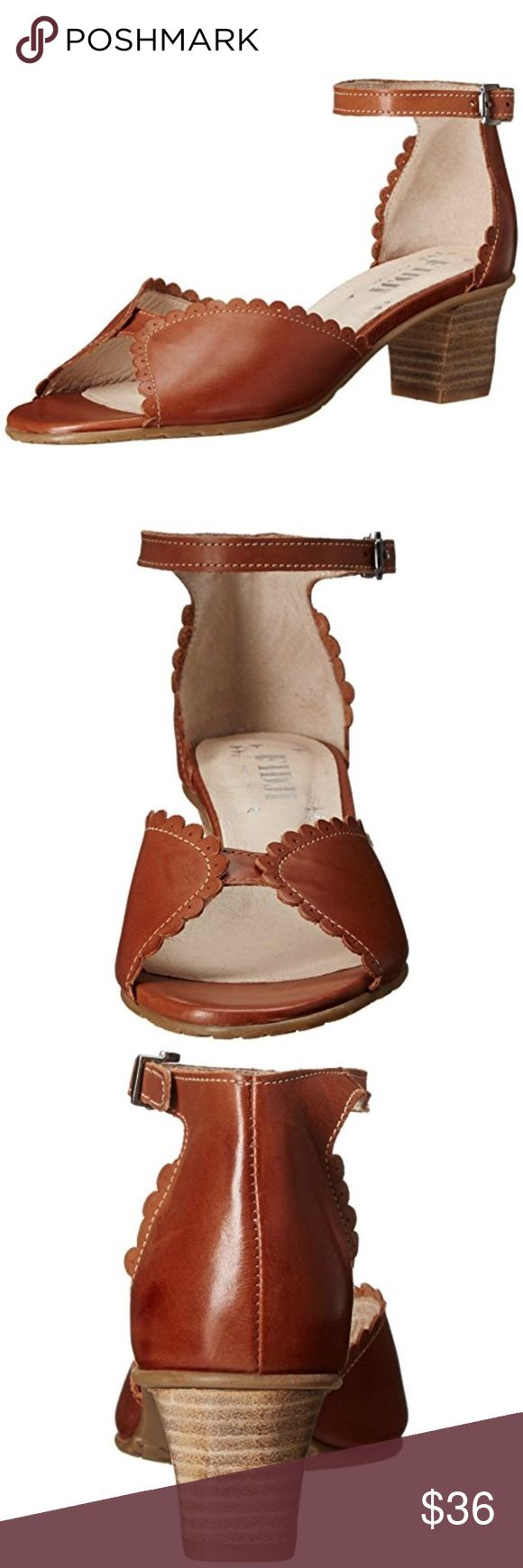 Fidji $173* Brown Leather Ankle Strap Sandals NEW WITH BOX.  Fidji Brown Leather Ankle Strap Dress Sandals SIZE: 39.5 Fidji Shoes Sandals