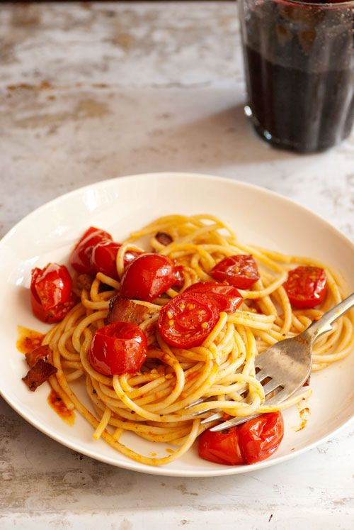 Melissa Clark's Bacon, Rosemary and Tomato Pasta
